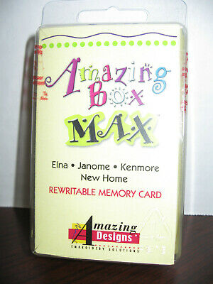 Amazing Box MAX Embroidery Rewritable Memory Card Janome Kenmore New Home SEW