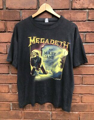 Rare!!! Vintage 80s Megadeth RIP Mary Jane 1988 Tour Rock Promo T Shirt
