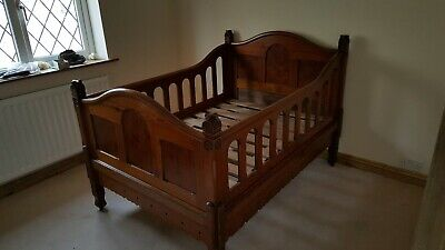 Arts & Crafts Antique pine first Bed/cot