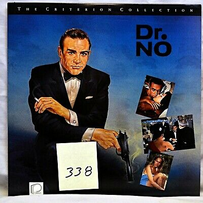 Laserdisc Dr. NO - Sean Connery as James Bond - Criterion Collection Wi LIKE NEW