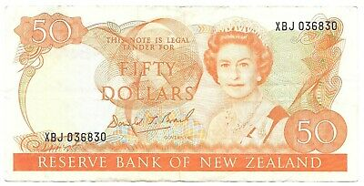 New Zealand 50 Dollars Banknote (1989-1992) QEII Circulated