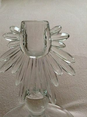 Early WJ HUGHES CORNFLOWER Flame by FOSTORIA Candlestick Candle Holder 2 availab