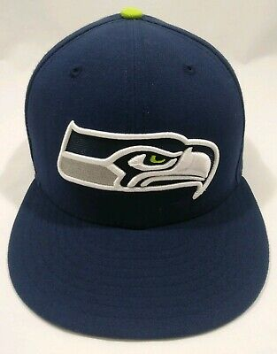online store 7b992 1ac83 Seattle Seahawks NFL New Era 59Fifty Super Bowl XLVIII Blue Fitted 7 3 8 Cap