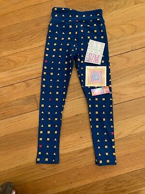 LuLaRoe Kids Leggings S/M NWT Blue With Shapes Fits 2-8