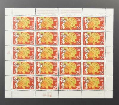 Us Scott 2817 Pane Of 20 Happy New Year Stamps 29 Cent Face  Mnh