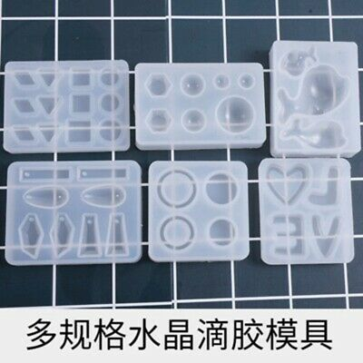 DIY Silicone Mold Crystal Jewelry Pendant Earrings Resin Mould Craft Making EW