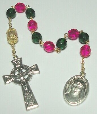 Handmade in the USA St Mary MacKillop Single Decade Rosary w/ Celtic Crucifix