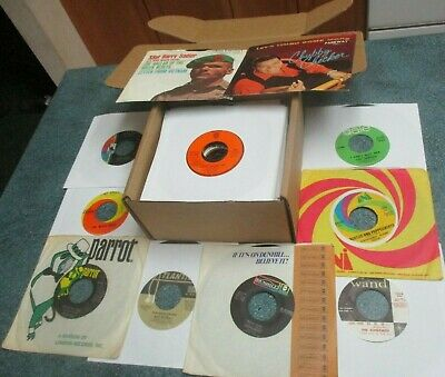 "ROCK/POP 1960s Lot of (50) 45's Records 7"" 45 RPM Vinyl Jukebox"