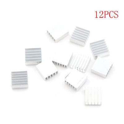 12Pcs 14X14X6Mm Small Anodized Heatsink Cooler W/Thermal Adhesive Tape FE