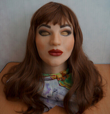 "Realistic female silicone mask hand made ""Sophie"""