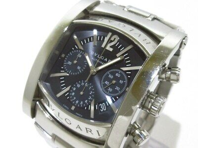 buy online 604fc f3fcd BVLGARI ASSIOMA STAINLESS Steel Silver Automatic AA48C14SSD ...