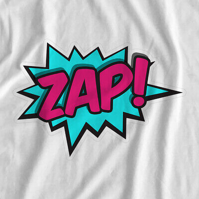 Comic Book Actions | Zap | Iron On T-Shirt Transfer Print