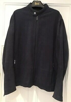 ****** Michael Kors Mens Navy Sheepkskin Jacket Size Xl ***