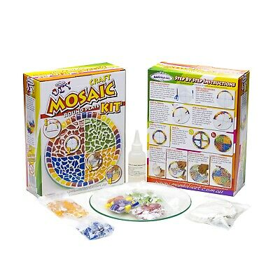 Mandala Art Mosaic Round Plate Craft Kit for Adults and Older Children