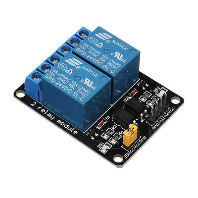 BESTEP 2 Channel 24V Relay Module Low Level Trigger Optocoupler Isolation For Au