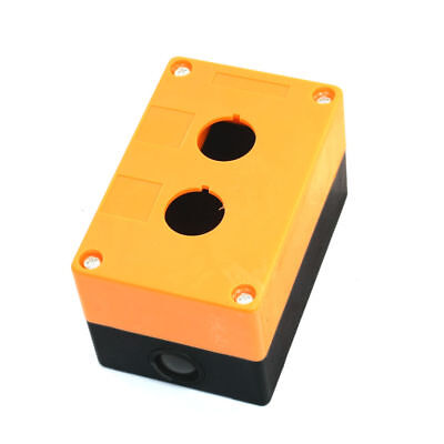 "H● 1Pc 22mm/0.87""Dia 2 Hole Push Button Switch Control Switches Box Orange, Bl"