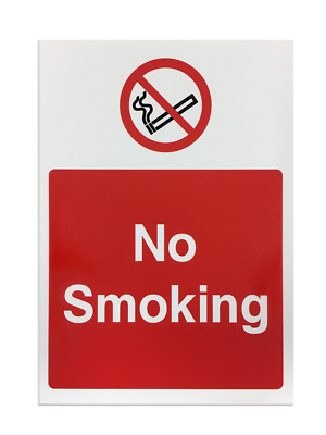 'No Smoking' Foamex Printed Safety Sign - Pack of 5