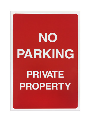 'No Parking' Foamex Printed Safety Sign - Pack of 5