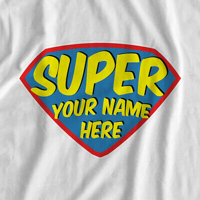 Personalised | Your Name Superhero Crest | Iron On T-Shirt Transfer Print