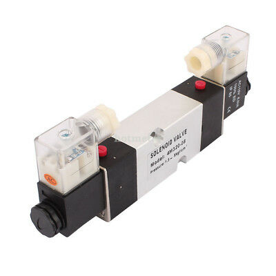 H● 4M320-08 AC110V 2 Position 5 Way RC1/4 Neutral Air Selector Solenoid Valve.