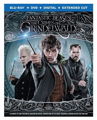 Fantastic Beasts The Crimes Of Grindelwald (Blu-ray, DVD, Digital, Extended Cut)