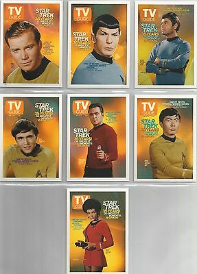 """Quotable Star Trek TOS - """"TV Guide Covers"""" 7 Card Chase Set #TV1-7"""