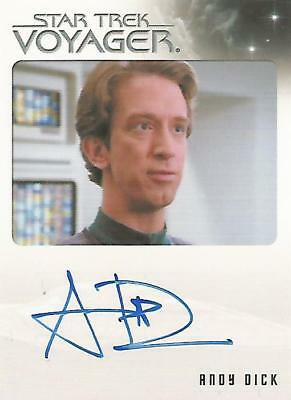 """Quotable Star Trek Voyager - Andy Dick """"EMH Mark II"""" Autograph Card"""