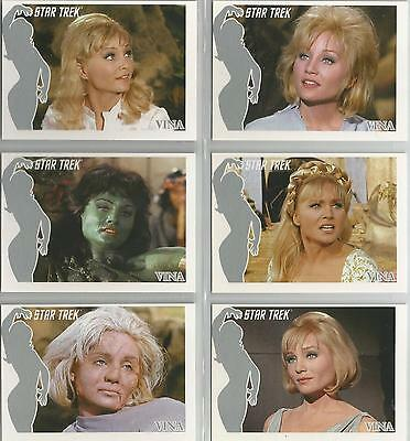 """Star Trek TOS 40th Anniversary S1 - """"The Faces of Vina"""" 6 Card Chase Set #FV1-6"""