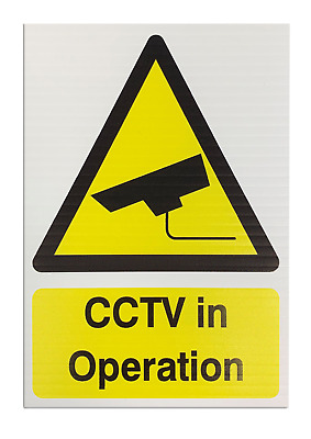 'CCTV in Operation' Correx Printed Safety Sign - Pack of 5