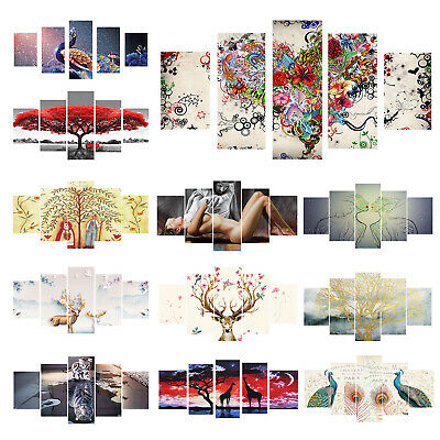 95*45cm 5pcs 5D Diamond Painting Embroidery Craft Set Home DIY Art Decor Gift