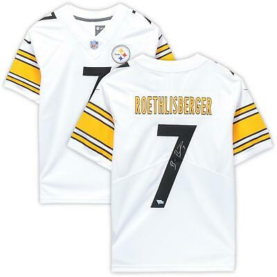 9f5b983e096 Ben Roethlisberger Pittsburgh Steelers Autographed White Nike Limited Jersey