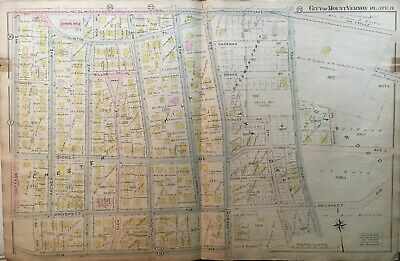 1906 Mt Vernon Westchester Co Ny Elm-Lincoln Av&Cottage-E. Of Columbus Atlas Map