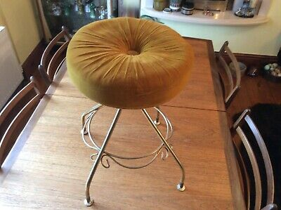 Original retro vinatge french  boudoir bedroom stool chair 50' 60's