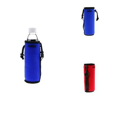 Neoprene Insulated Sport Water Bottle Cover Pouch Sleeve Bag Holder - Red