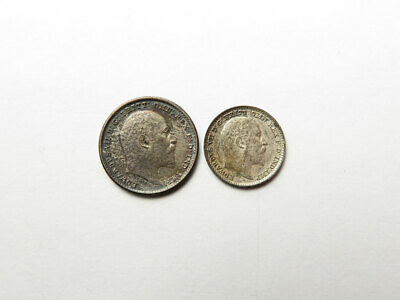 Two Edward VII Silver Maundy Oddments : 1d & 2d 1902 matte proofs (toned)
