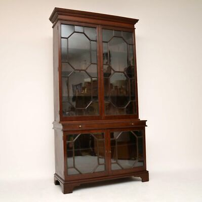 Antique Period George III Mahogany Two Section Bookcase