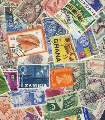 200 All different British Commonwealth Stamps Good Mix of Countries  *Free Post*