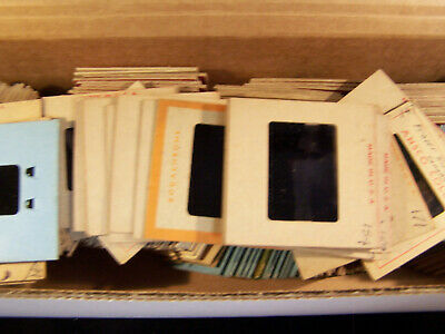 LOT OF 225  VINTAGE 35mm SLIDES - 1950'S    FAMILY VACATION TRAVEL