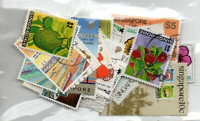 SINGAPOPRE 1973-1989 - USED - 60 STAMPS all different.cat £33..