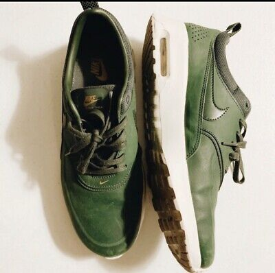 info for fb31a 99395 Nike Air Max Thea Sneakers Outdoor Forest Green Thea Womens 599409 308 Size  9