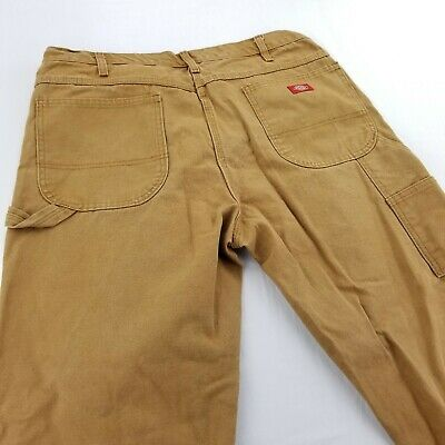 80ae76d0a5528 Dickies Mens 38x30 Jeans Work Canvas Pants Relaxed Fit Cargo Carpenter  Beige Tan