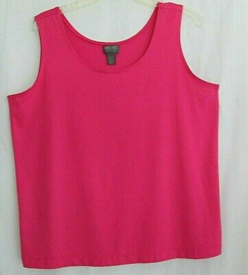 a1b54e8cd81 ADDITIONS BY CHICO,S Bright Solid Pink V-Neck Sleeveless Tank / Cami ...