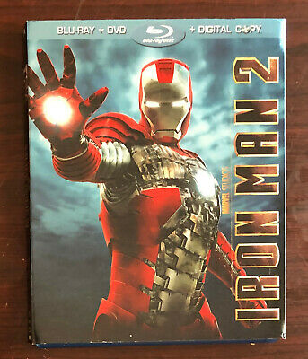 Marvel's Iron Man 2 (3-disc Blu-ray/DVD combo) with slipcover (original release)