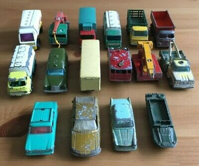 Vintage Matchbox - Job Lot Of 16 Die-Cast Models