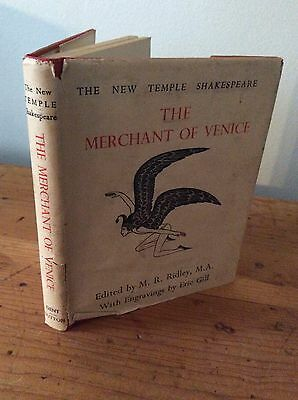 The Merchant of Venice, Shakespeare, illustrated by Eric Gill, 1944, Dent Dutton