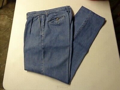 3e5ef74c Lee Stain Resistant Pleated Relaxed Pants 30 x 32 Stonewashed Denim Mens  Used
