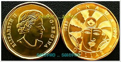 Canada 2019 Canadian Queen Elizabeth Loonie Maple Equality $1 Dollar Coin Unc