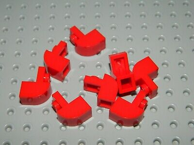 LEGO New Lot of 4 Red 1x2x1 1//3 Curved Top Brick Pieces