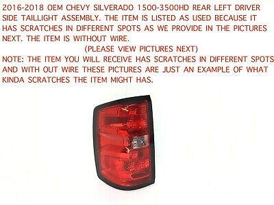 2016-2018 chevy silverado 1500-3500 rear left side taillight assembly  84288722#1