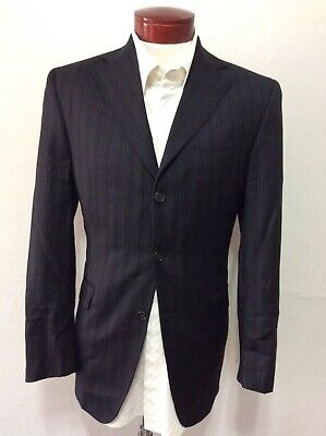 Jack Victor Loro Piana Wool Pinstripe Men's Suit 38R 32x31 Made in Canada H652